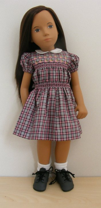 Sasha Doll Check Repro Smock Outfit