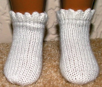 Sasha Doll Picot Ankle Socks