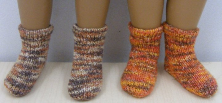 Sasha Doll Variegated cotton ankle socks